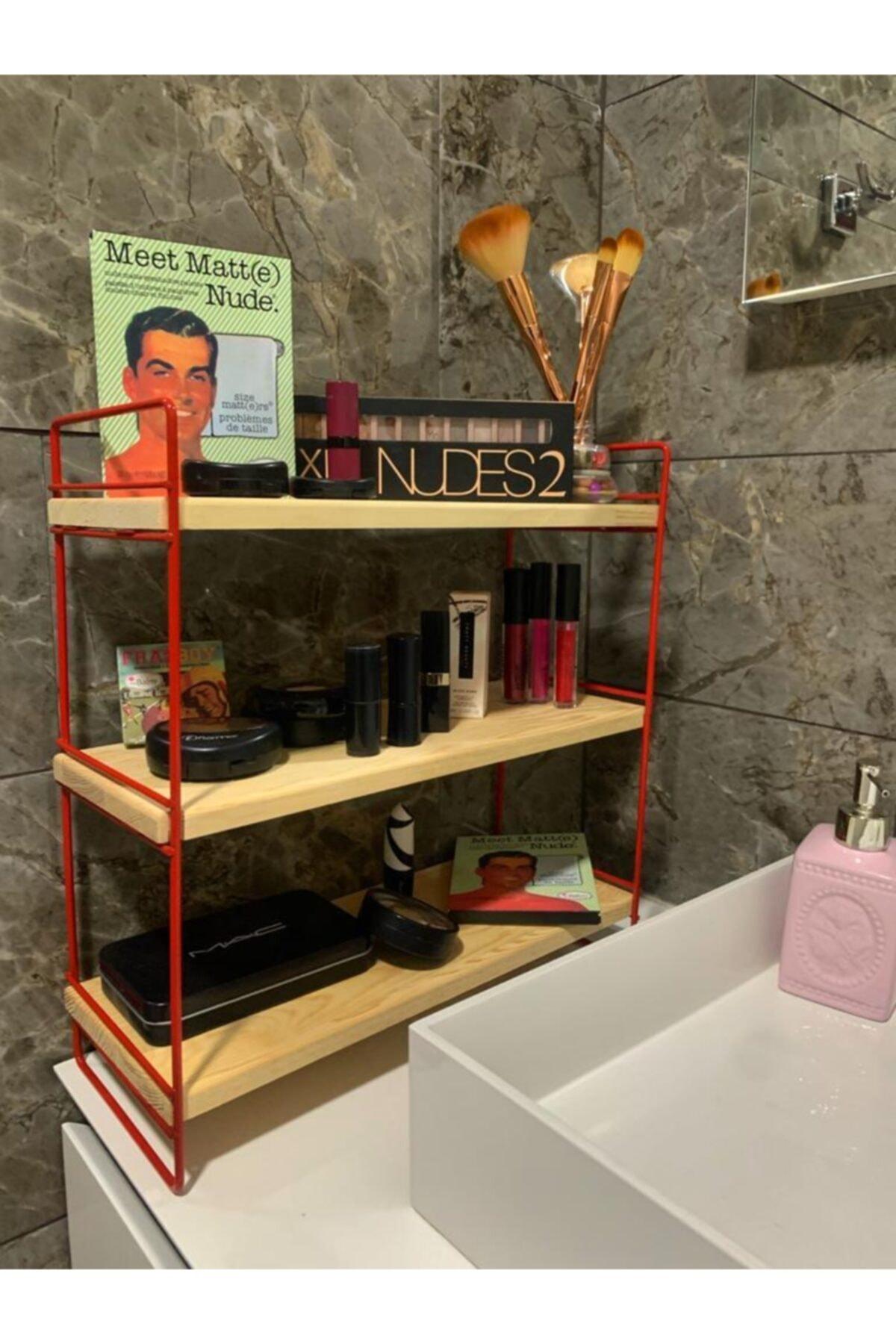 MSAĞWOODS Ahşap-metal-mutfak Organizeri-baharatlık-banyo Düzenleyici-makyaj Malzemesi Raf-hediyelik Eşya-sunum 1