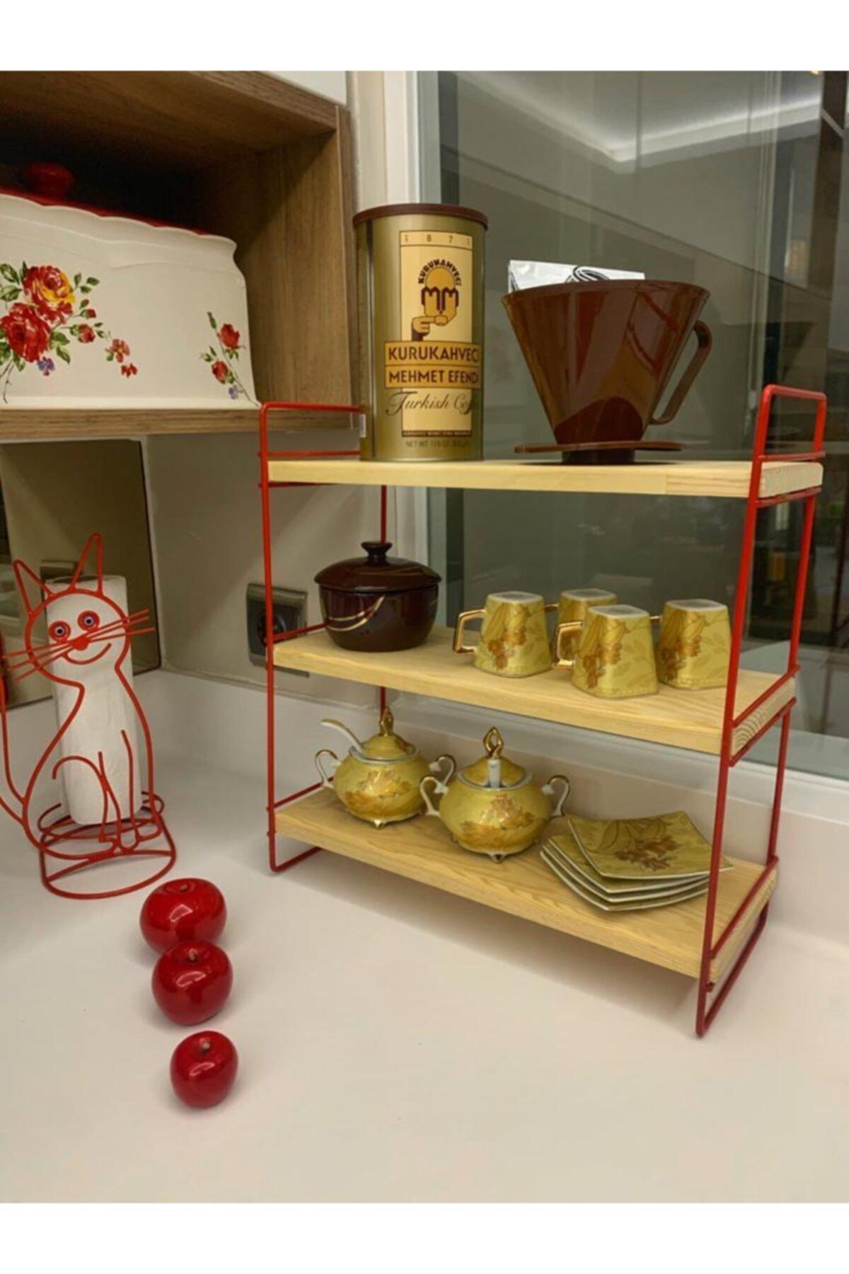 MSAĞWOODS Ahşap-metal-mutfak Organizeri-baharatlık-banyo Düzenleyici-makyaj Malzemesi Raf-hediyelik Eşya-sunum 2