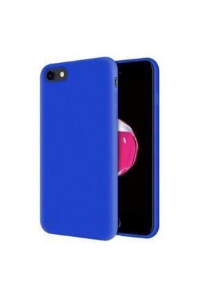 Sunix Apple Iphone 7 - 8 -se 2020 Içi Kadife Lansman Silikon Kılıf Mavi