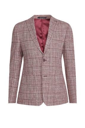 W Collection Kırmızı Beyaz Ekoseli Ceket