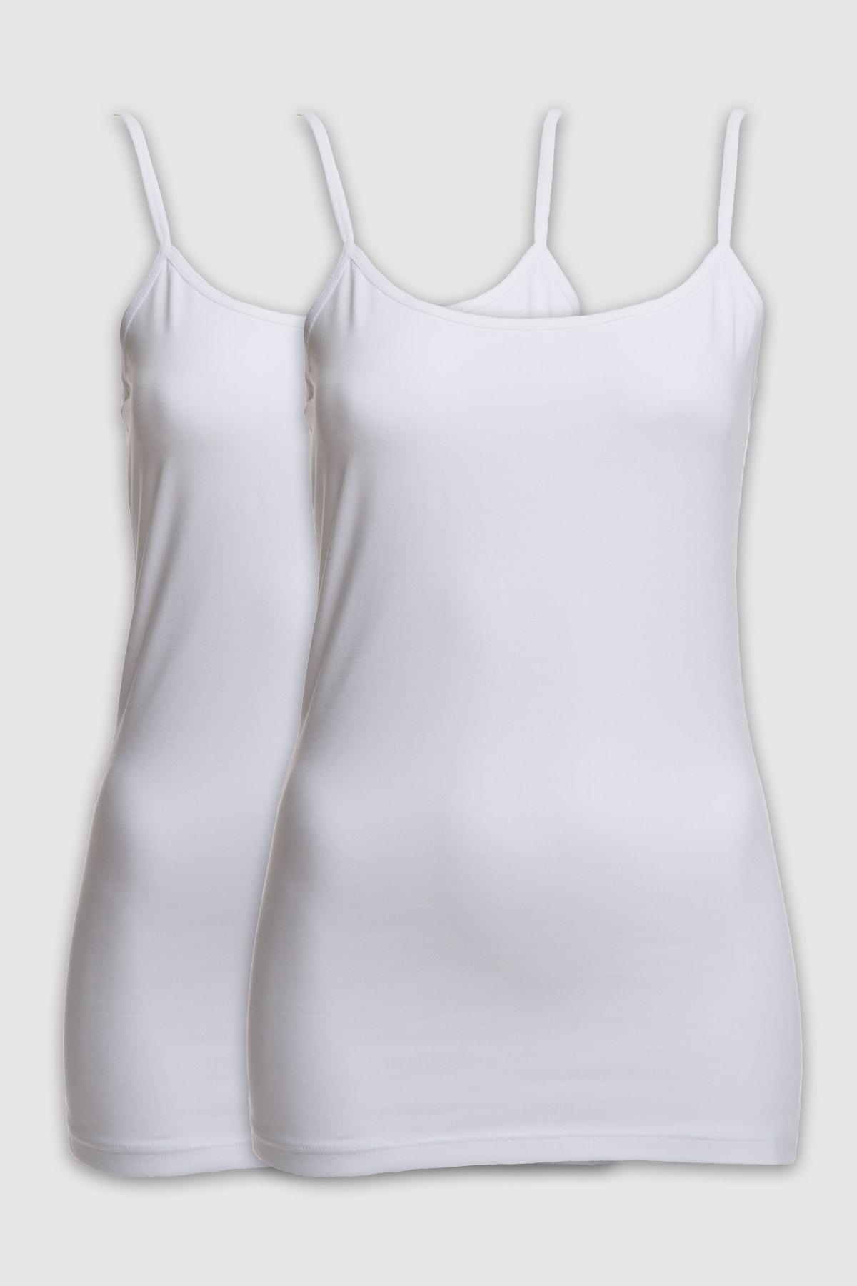 Pierre Cardin 1004 Kadın 2li Paket Askılı Atlet 1