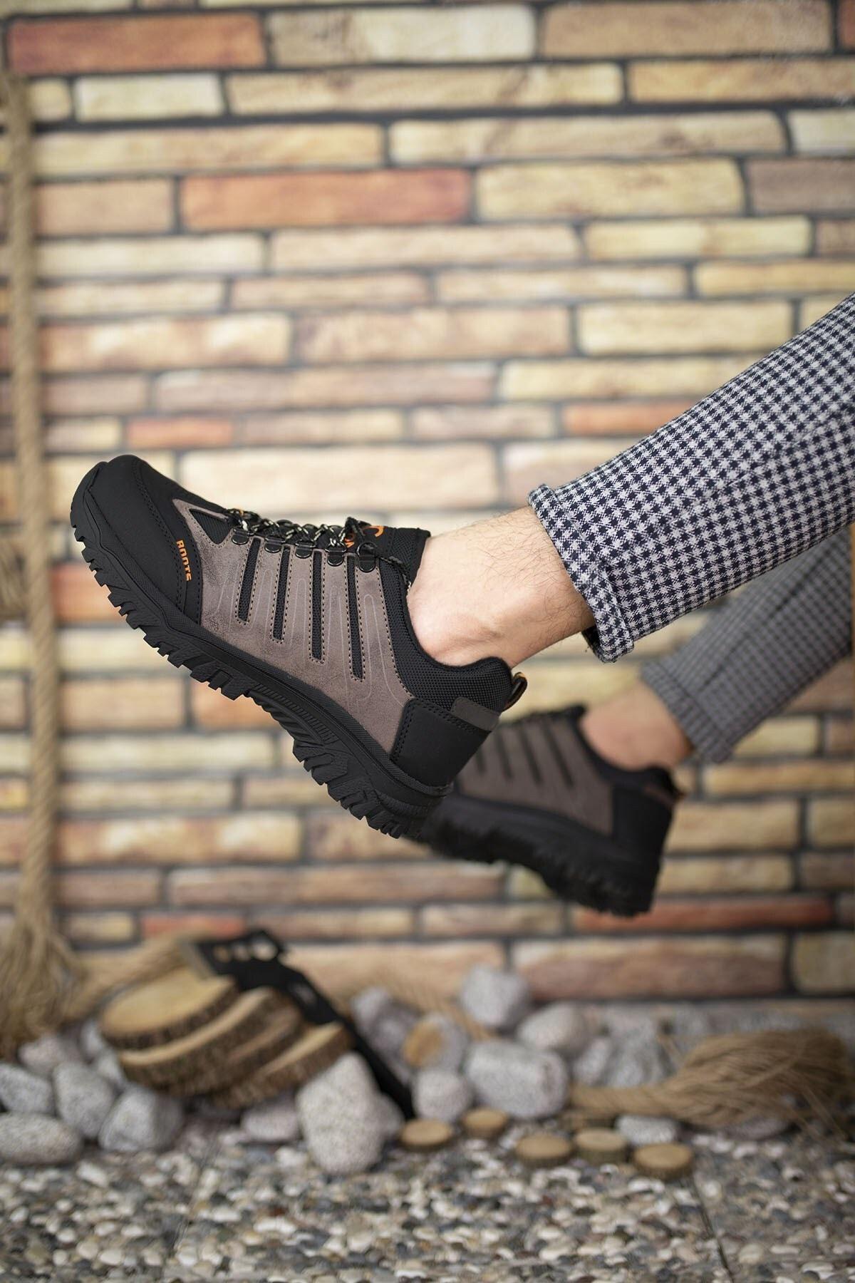 Riccon Kahverengi Siyah Erkek Trekking Ayakkabı 0012115 2