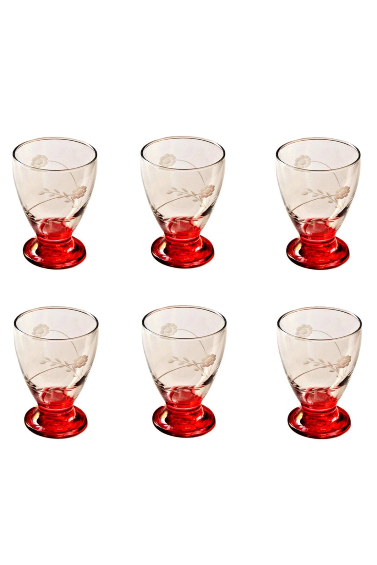 BAŞAK 41011 Çın Çın 12 Adet (Kırmızı Papatya) Su-meşrubat Bardağı 2