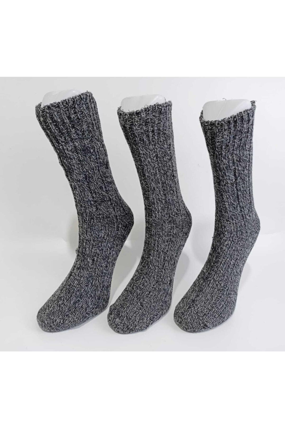 Shocks Erkek 3'lü Kışlık Yün Çorap 1