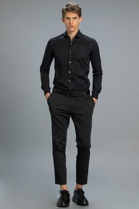 Lufian Glory Smart Chino Pantolon Slim Fit Siyah