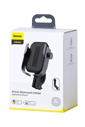 Baseus Armor Motorcycle Holder-motosiklet-bisiklet Telefon Tutucu Siyah