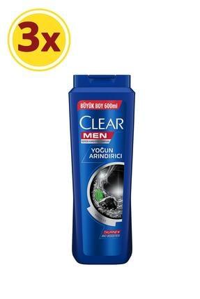 Clear Men Yoğun Arındırıcı Kepeğe Karşı Etkili Şampuan 600 ml X3