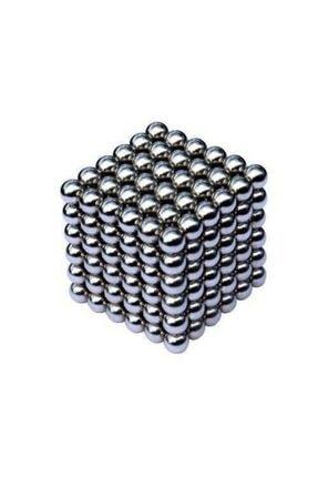 DİNCALİSVERİS Mıknatıs Bilye Neodyum Neocube Küp 5 Mm Gümüş Stres Bilye 216 Adet