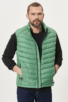 AC&Co / Altınyıldız Classics Erkek Yeşil Standart Fit Casual Yelek
