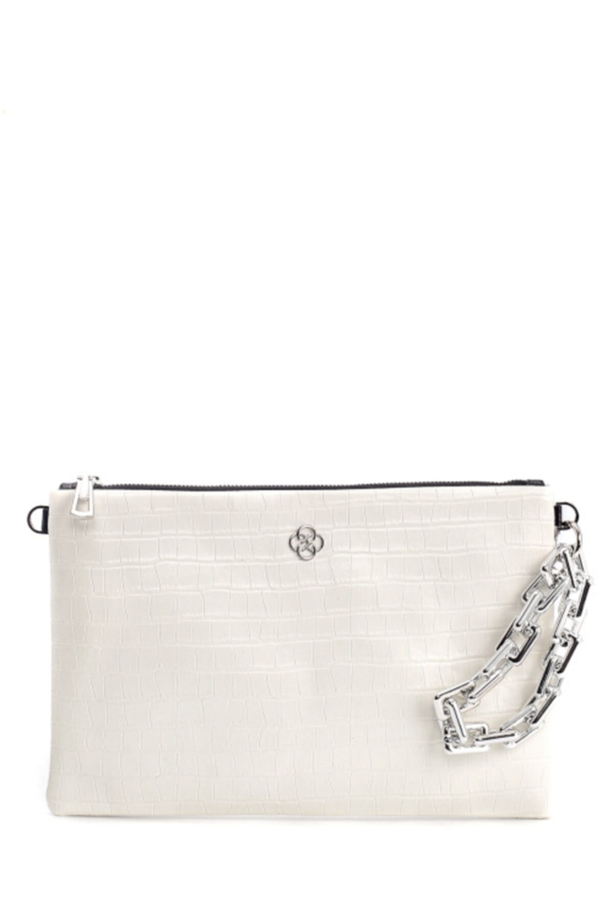 CLUTCHİST Kadın Beyaz Clutch  Çanta 1