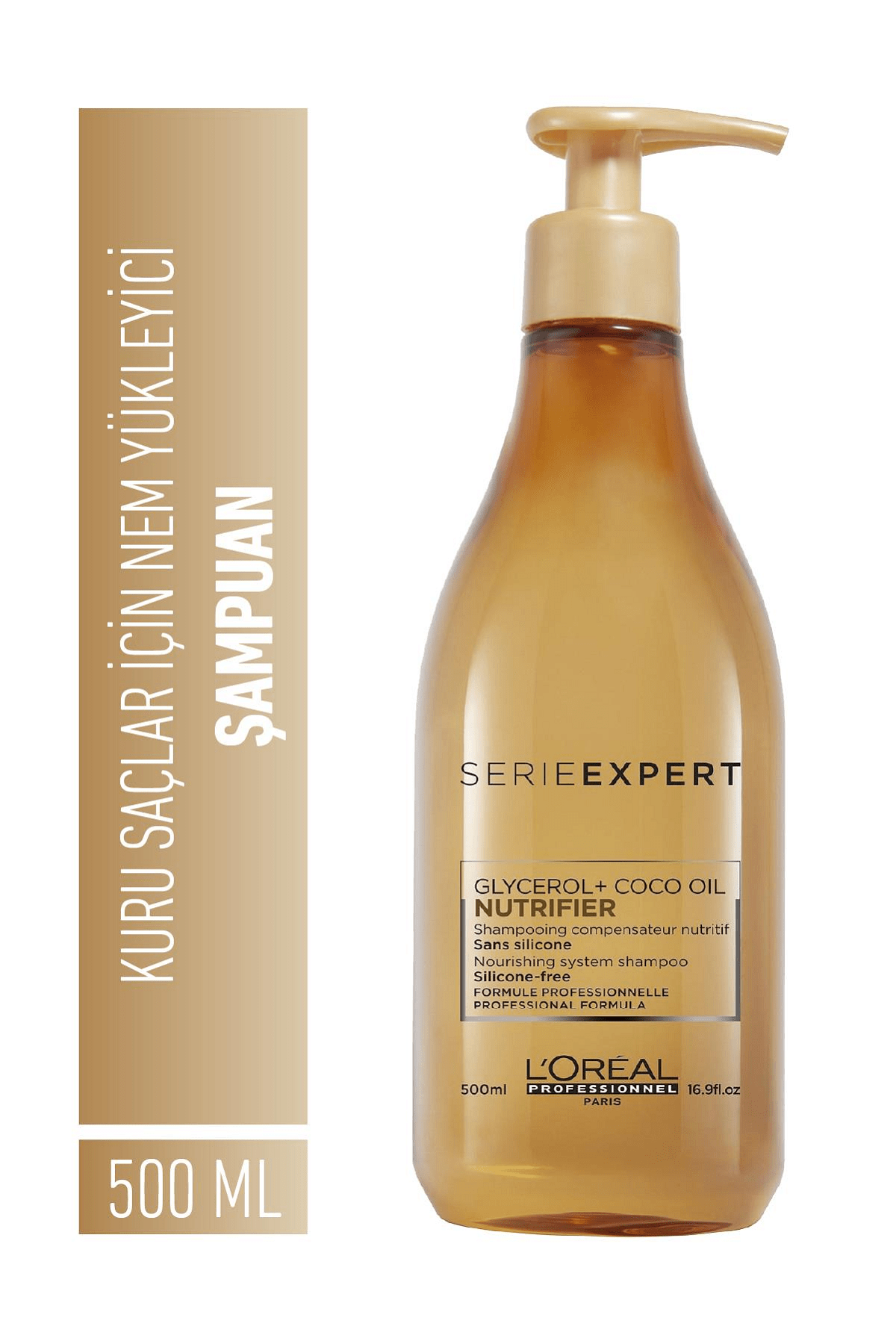 L'oreal Professionnel Serie Expert Nutrifier Kuru Saçlar için Nem Yükleyici Şampuan 500 ml 2