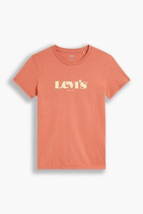 Levi's Kadın The Perfect Tee New Logo Aragon Kırmızı  Kadın Tişört 1736914470