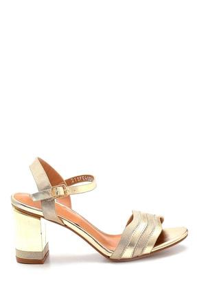 Derimod Kadın Altın Rengi Topuklu Sandalet