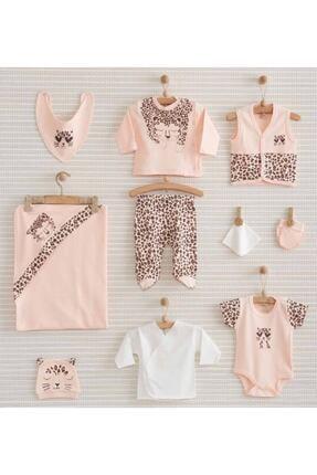 Nenny Baby Leopard Yenidoğan Bebek Hastane Çıkışı Badi Zıbın Takımı