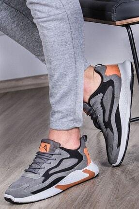 Madmext Erkek Yüksek Taban Füme-turuncu Spor Ayakkabı Ms060