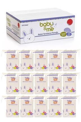 Baby&Me Bebek Temizleme Pamuğu %100 Saf Pamuk 60lı Poşet 15 Paket 565rtg-55