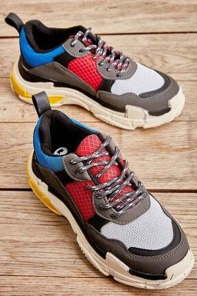 Bambi Mavi Kırmızı Kadın Sneaker K01591007209