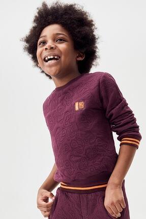 Nebbati Erkek Çocuk Bordo S-shirt 20fw1nb3428