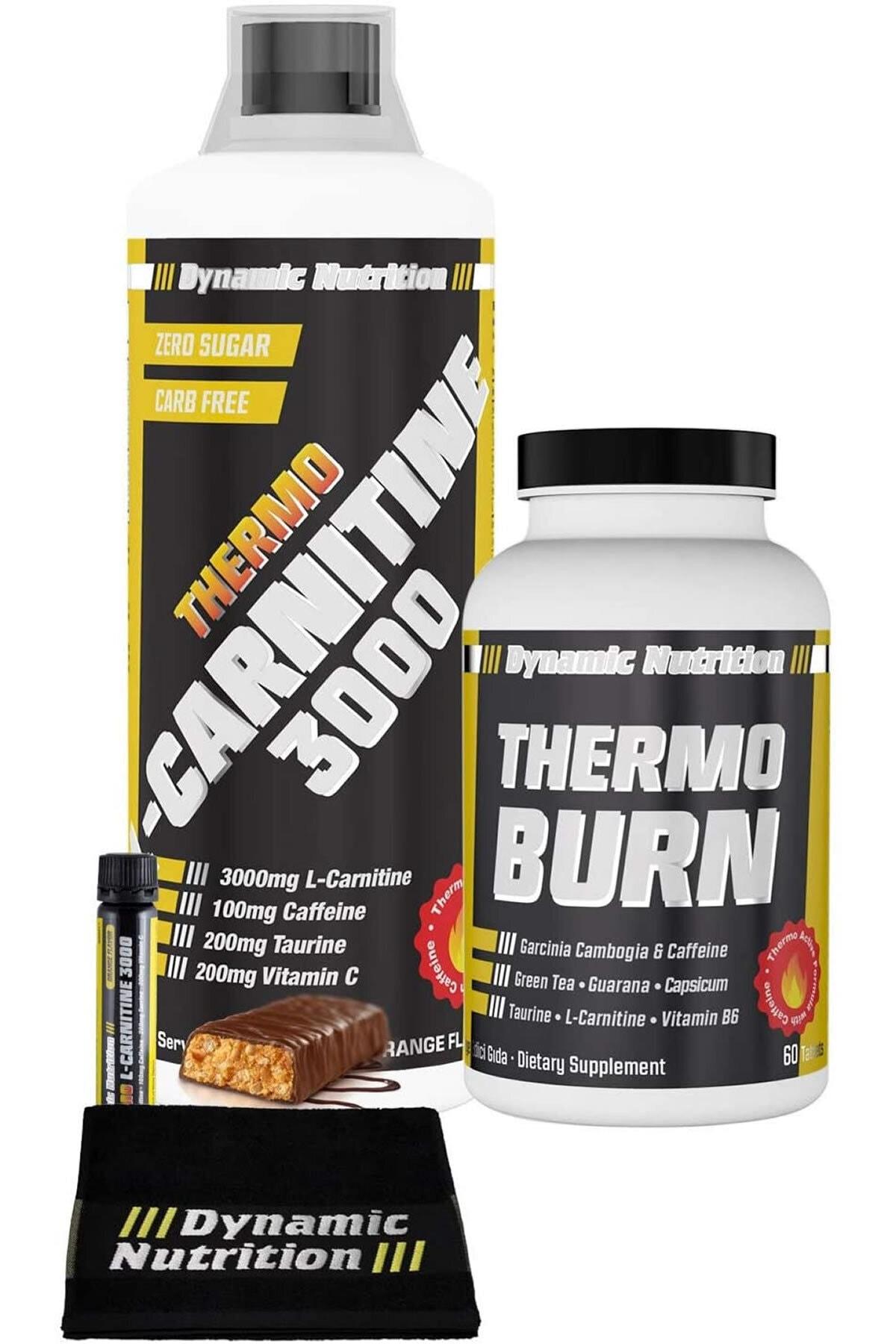 Dynamic Nutrition Dynamic Thermo L-Carnitine 3000 mg 1000 ml + Thermo Burn 60 Tablet + 3 HEDİYE 1