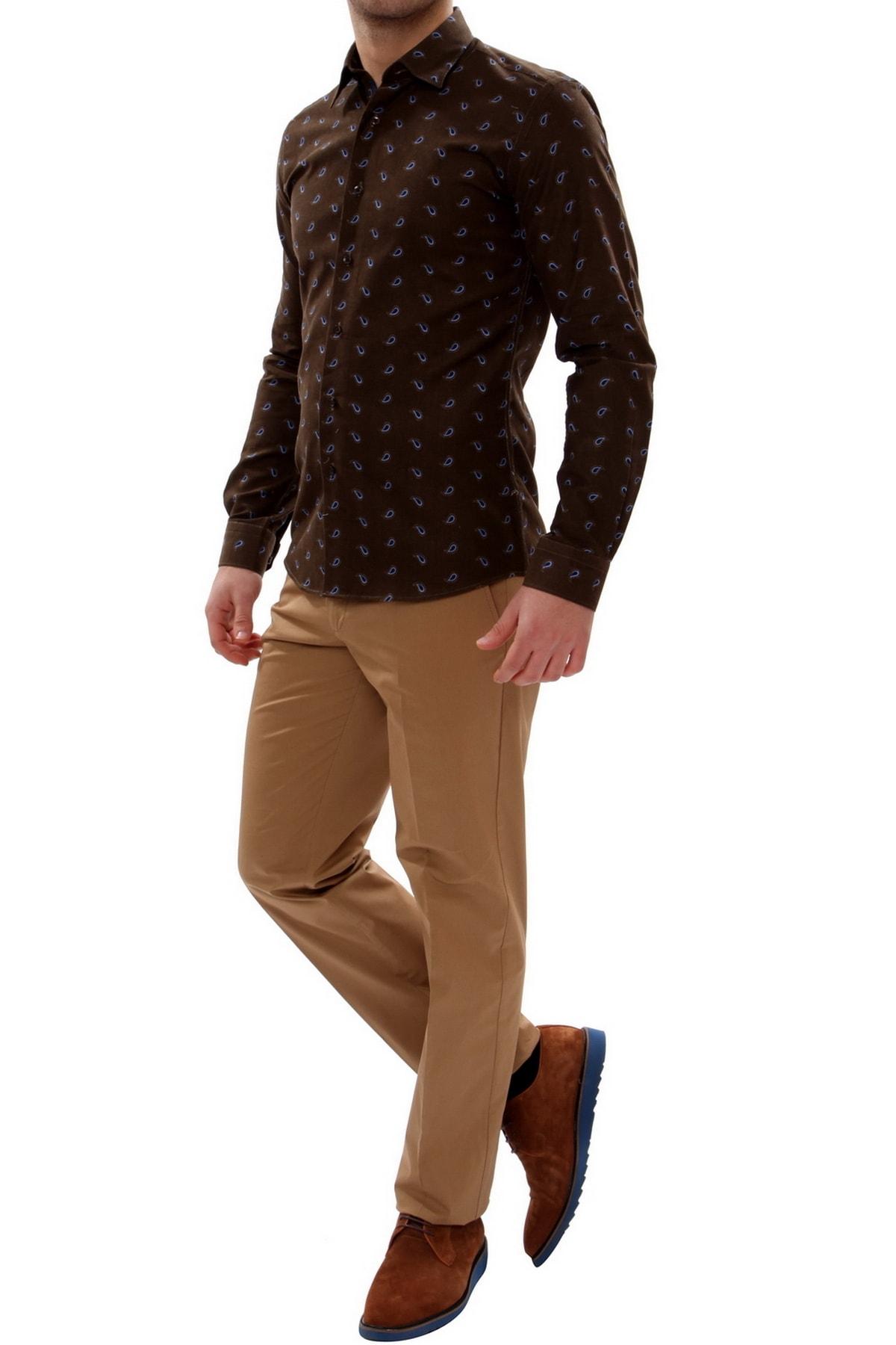 Efor Erkek Kahverengi Slim Fit Spor Pantolon P 905 1