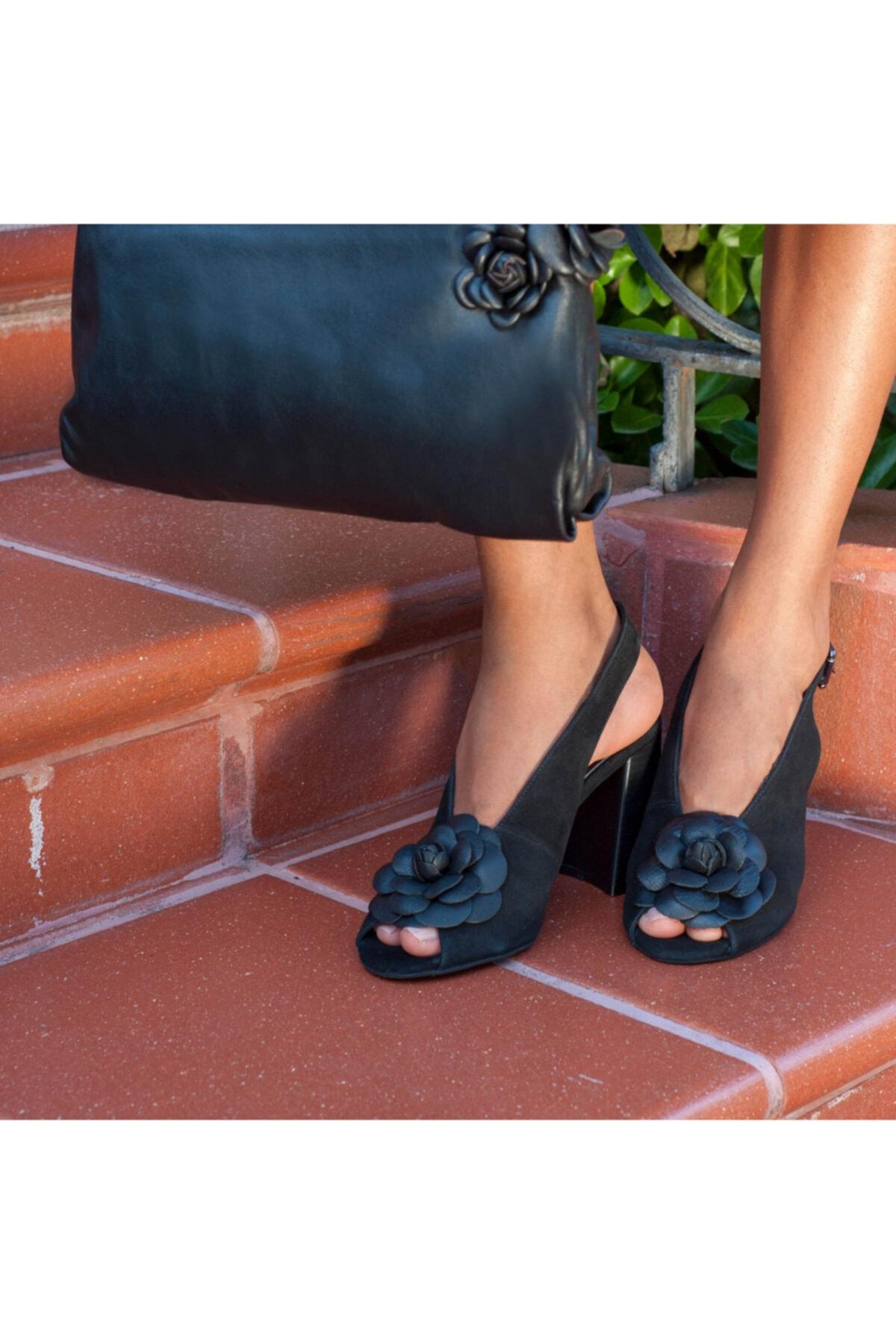 Desa Freya Kadın Süet Topuklu Sandalet 1