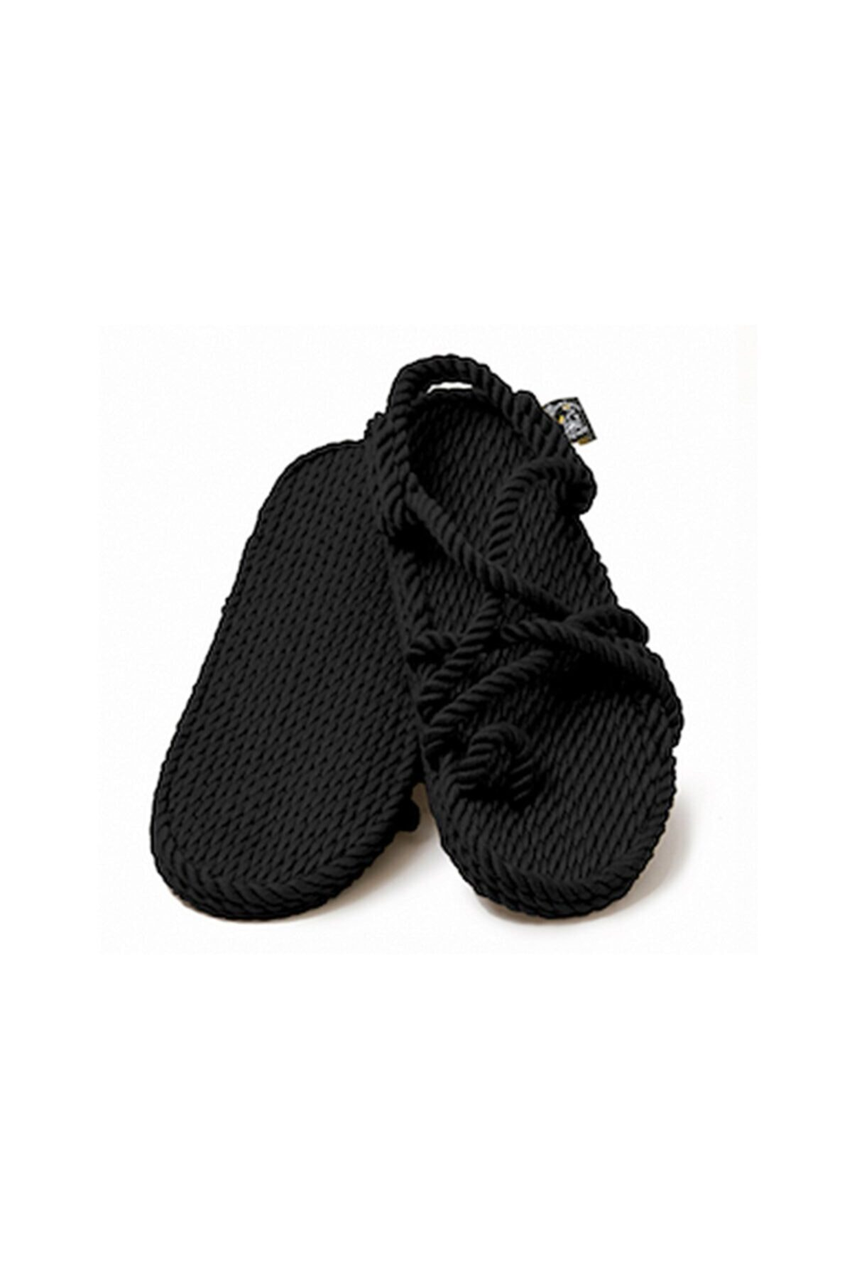 Nomadic State Of Mind - Toe Joe Siyah Hasır Ip Sandalet 1