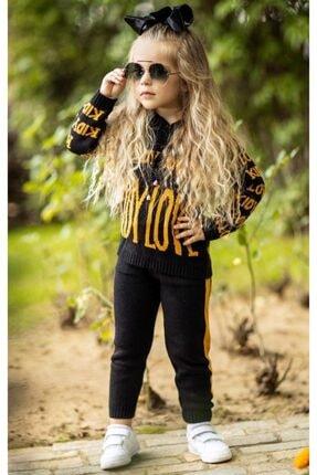 Riccotarz Kız Çocuk Kid Love Siyah Triko Alt Üst Takım