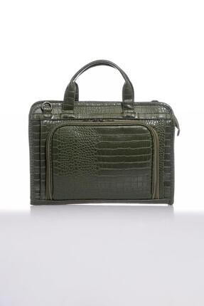 Sergio Giorgianni Luxury Sg071219 Kroko Haki Unisex Evrak Çantası
