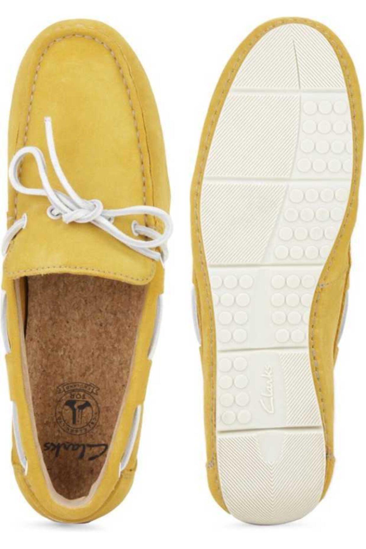 CLARKS Erkek Sarı Hakiki Deri Ayakkabı 1