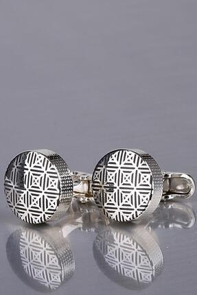 Kravatkolik Gümüş Renk Yuvarlak Kol Düğmesi Kd1172