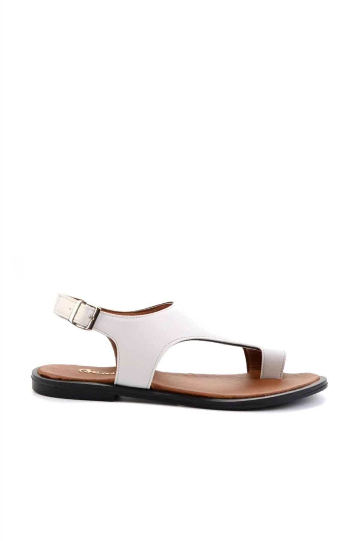 Bambi Beyaz Kadın Sandalet L0835121009 2