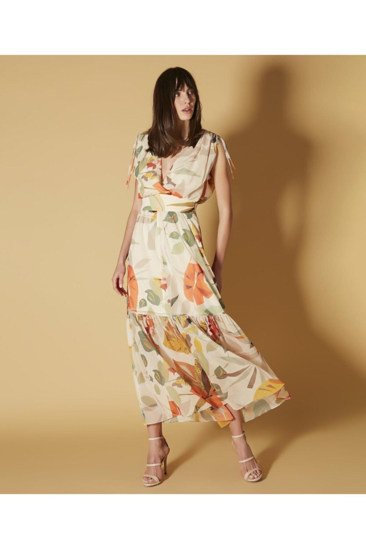 İpekyol Çiçek Desen Şifon Elbise 1