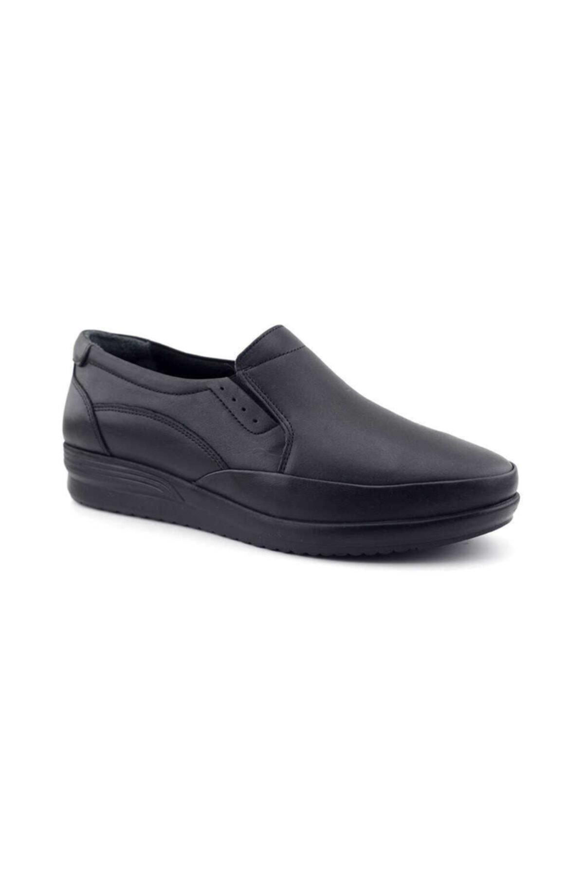 Kayra 04 Hakiki Deri Kadın Günlük Ayakkabı-siyah 2