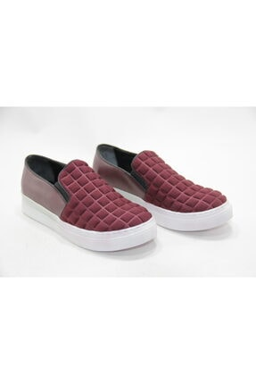 İnci Bayan Bordo 37 Numara Hakiki Deri Sneaker