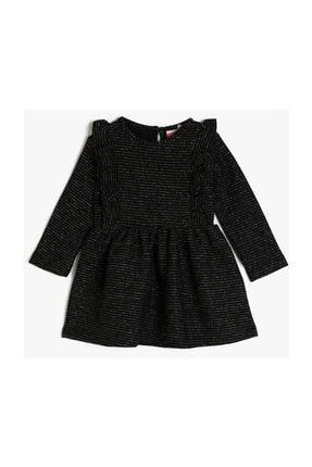 Koton Siyah Kız Bebek Elbise