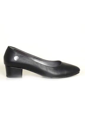 Mammamia 3720 Siyah Topuklu Klasik Ayakkabı