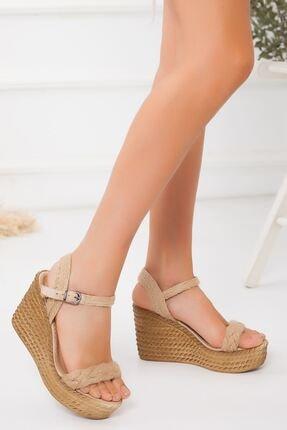 derithy -dolgu Topuklu Ayakkabı-ten Süet