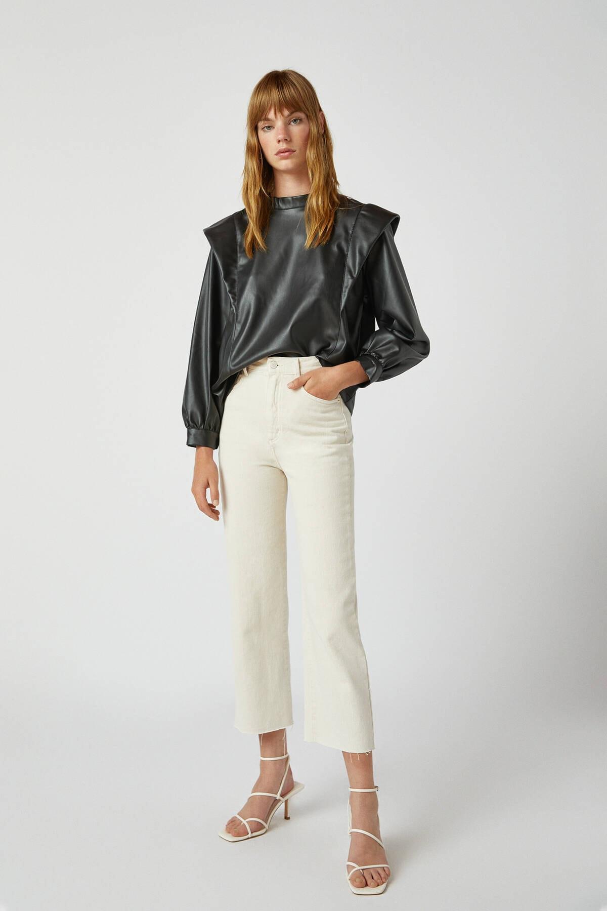 Pull & Bear Crop Straight Fit Jean 1