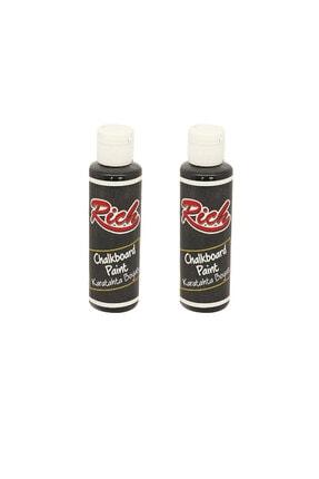 Rich Kara Tahta Boyası Siyah 130 ml 2li Paket