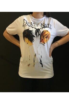 Panda Death Note Baskılı T-shirt