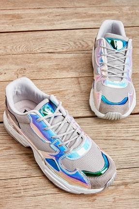 Bambi Gri/mavi/laci Kadın Sneaker L0613626022