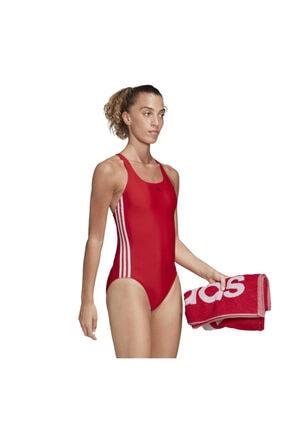 adidas Kadın Kırmızı Fıt Suıt 3s  Yüzücü Mayosu Fj4482