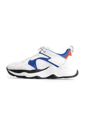 Flower Beyaz Bağcıklı Spor Ayakkabı