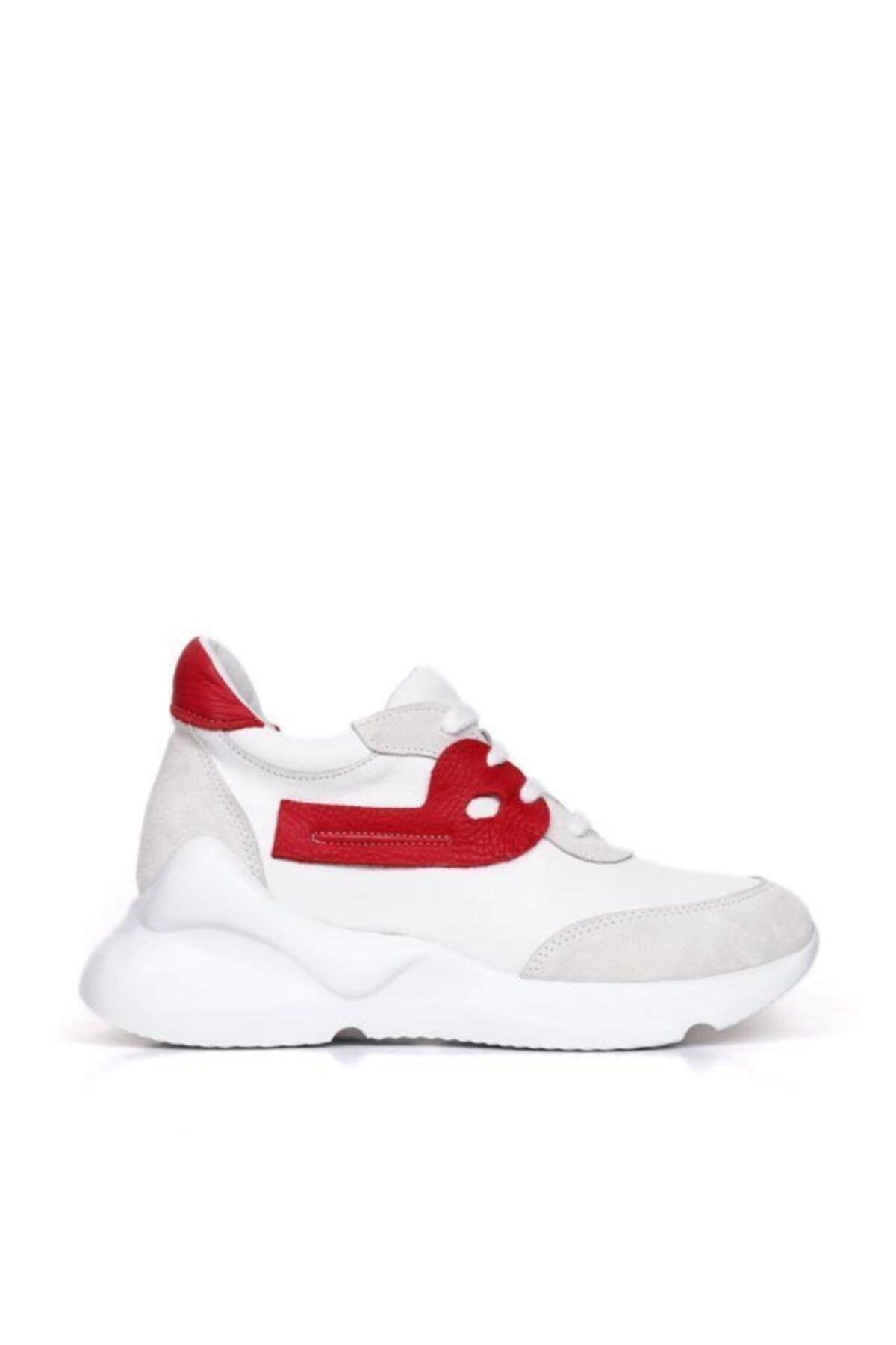 BUENO Shoes Hakiki Deri Bağcık Detaylı Kadın Spor Ayakkabı 20wq1805 2