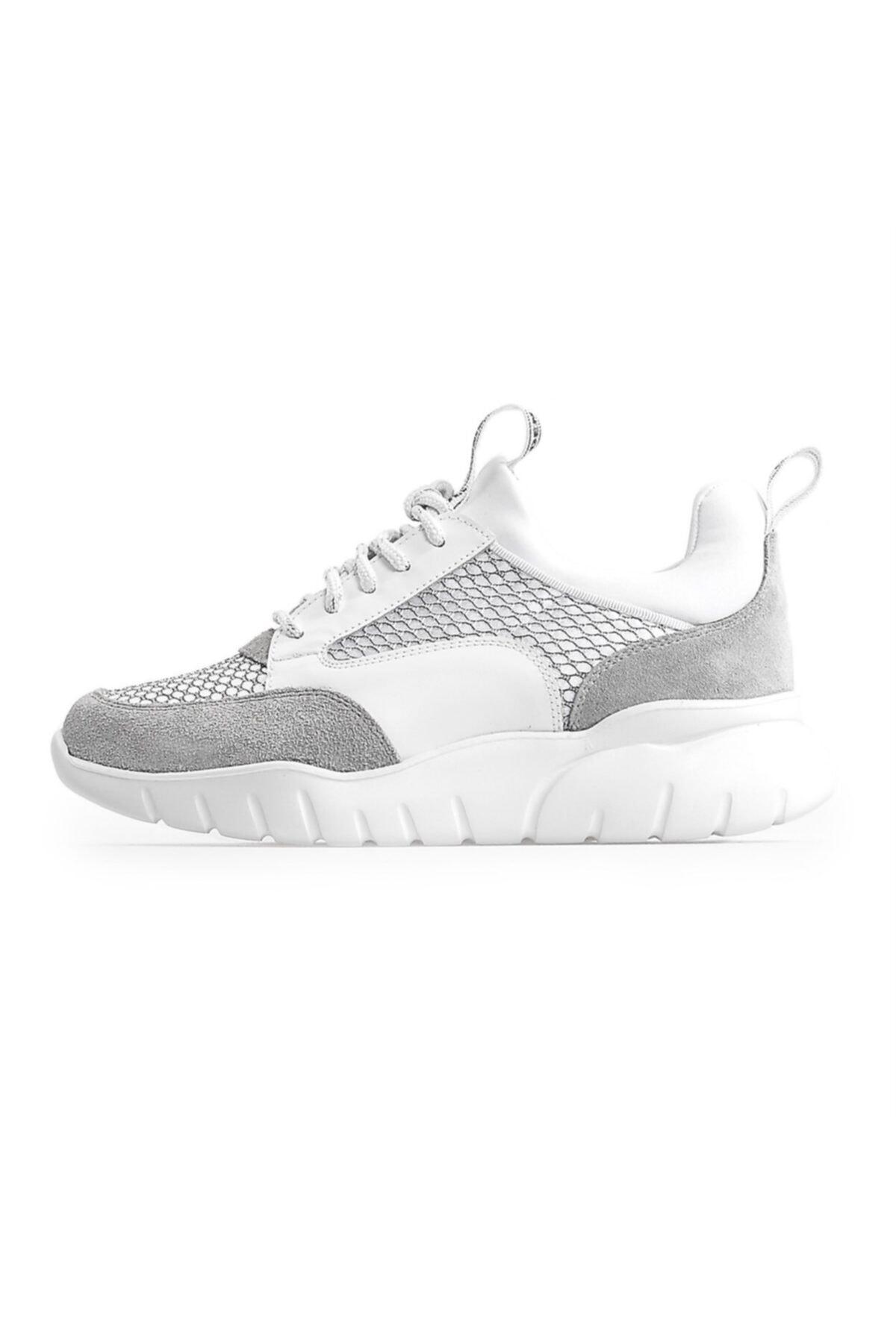 Flower Beyaz File Detaylo Kadın Spor Ayakkabı 1