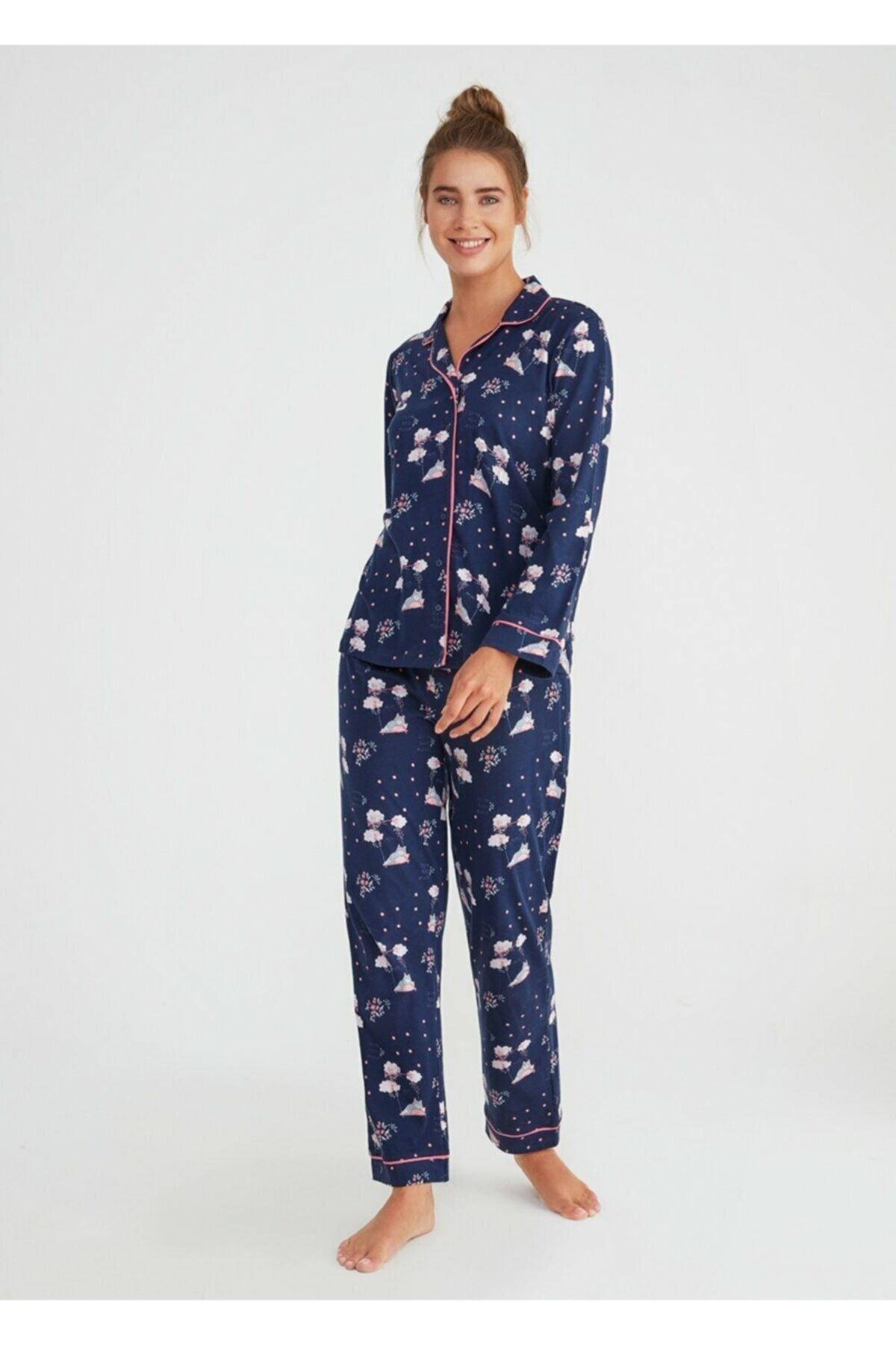 SUWEN Hug Me Maskulen Pijama Takımı 1