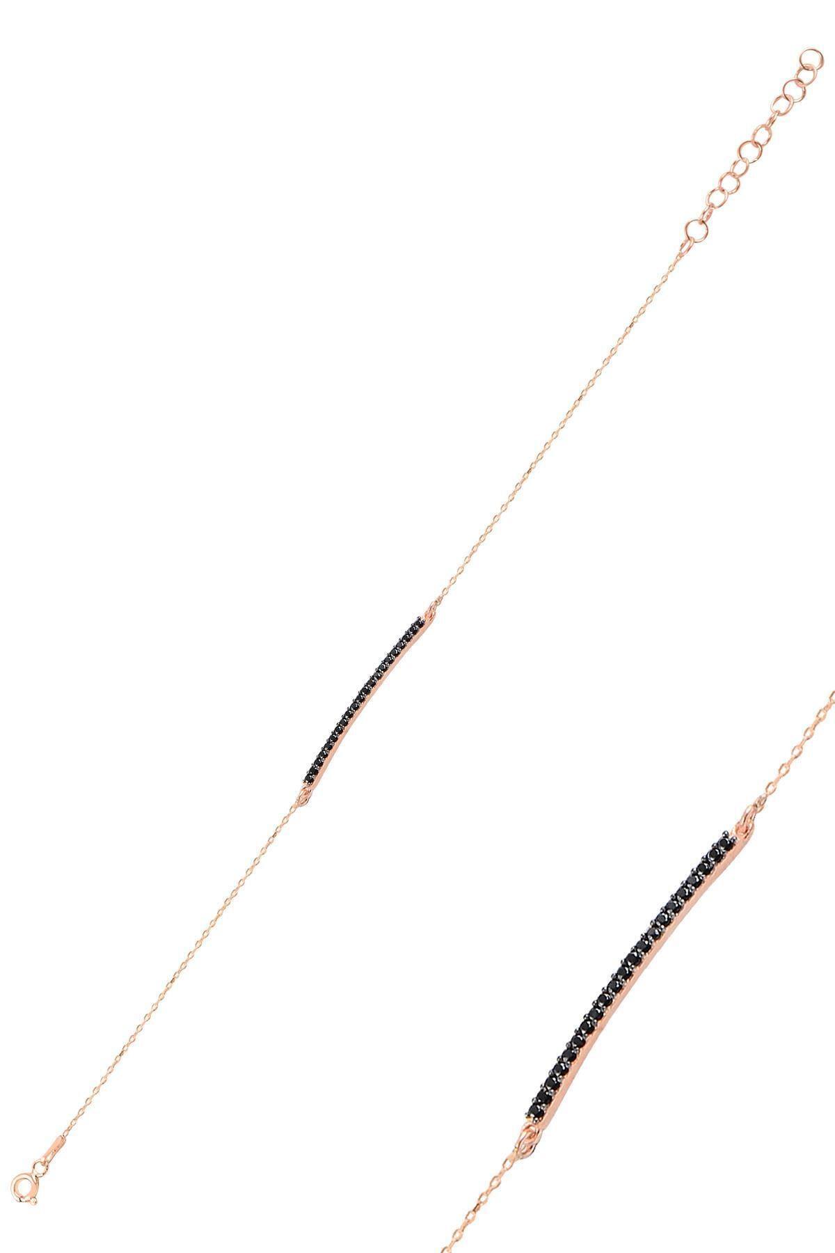 Söğütlü Silver Gümüş Rose Çubuk Bileklik 1