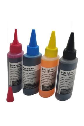 4F Hp Deskjet Ink Advantage 2060 - K110 Kartuş Dolum Mürekkebi Takım 4x100 ml Set Mürekkep Muadil