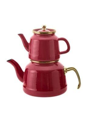 Emsan Troy Emaye Çaydanlık Takımı Kırmızı 600.03.01.0049
