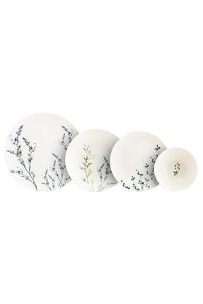 Bonna Porselen Chichi Home Lavender Pino 24 Parça Yemek Seti